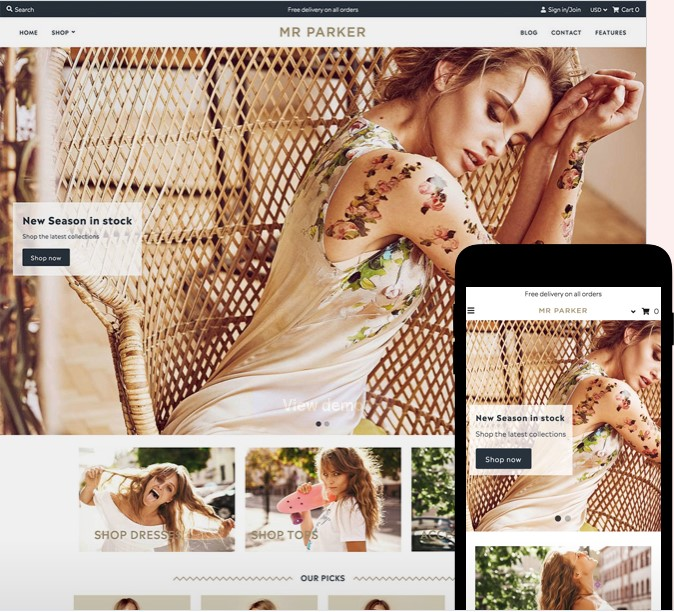 Mr. Parker Shopify Theme